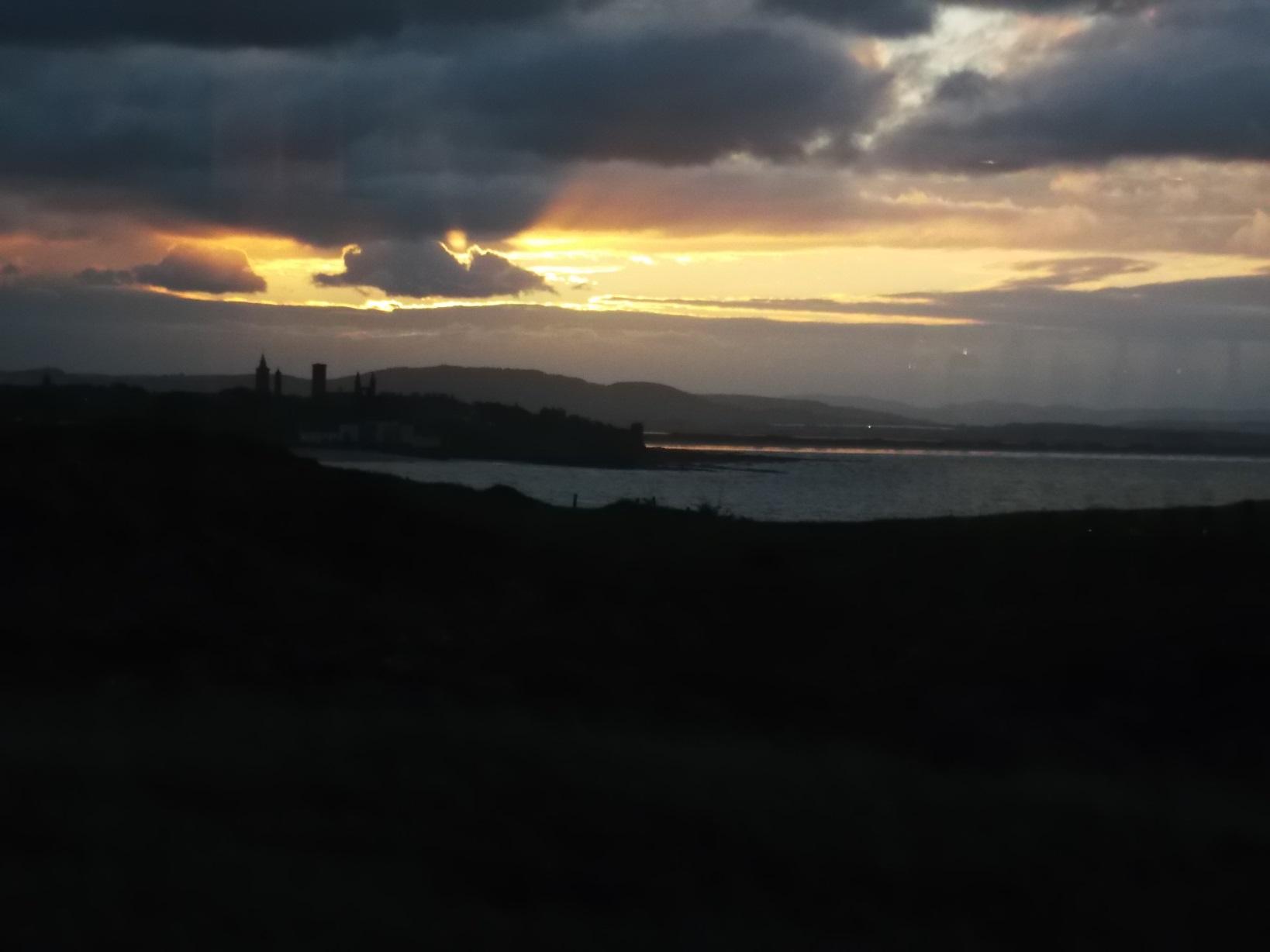 castle sunset