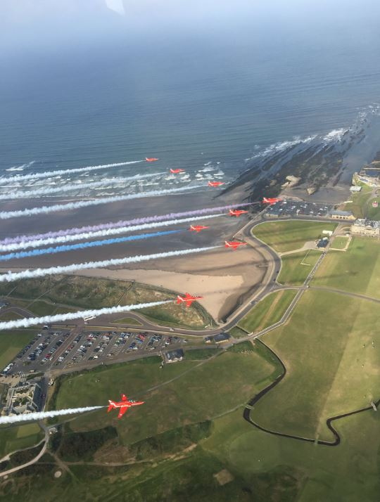Red arrows aerial - RAF Red10