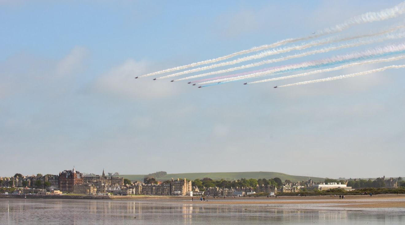 Red arrows - beach (Cupar CKDG)