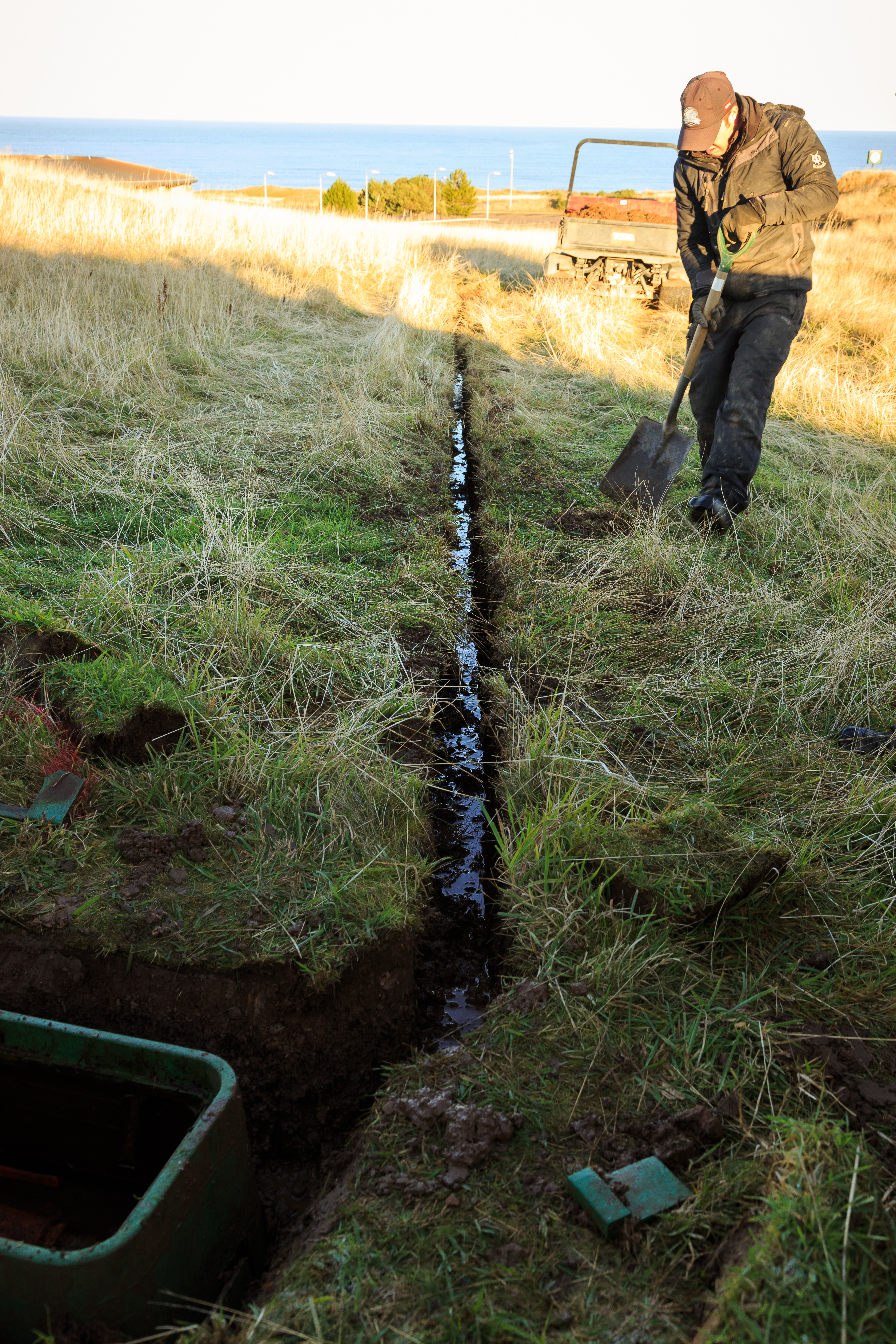 New machinery helps drainage at The Castle - St Andrews Links Blog